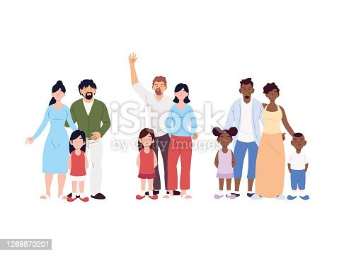 set of families, group of families together