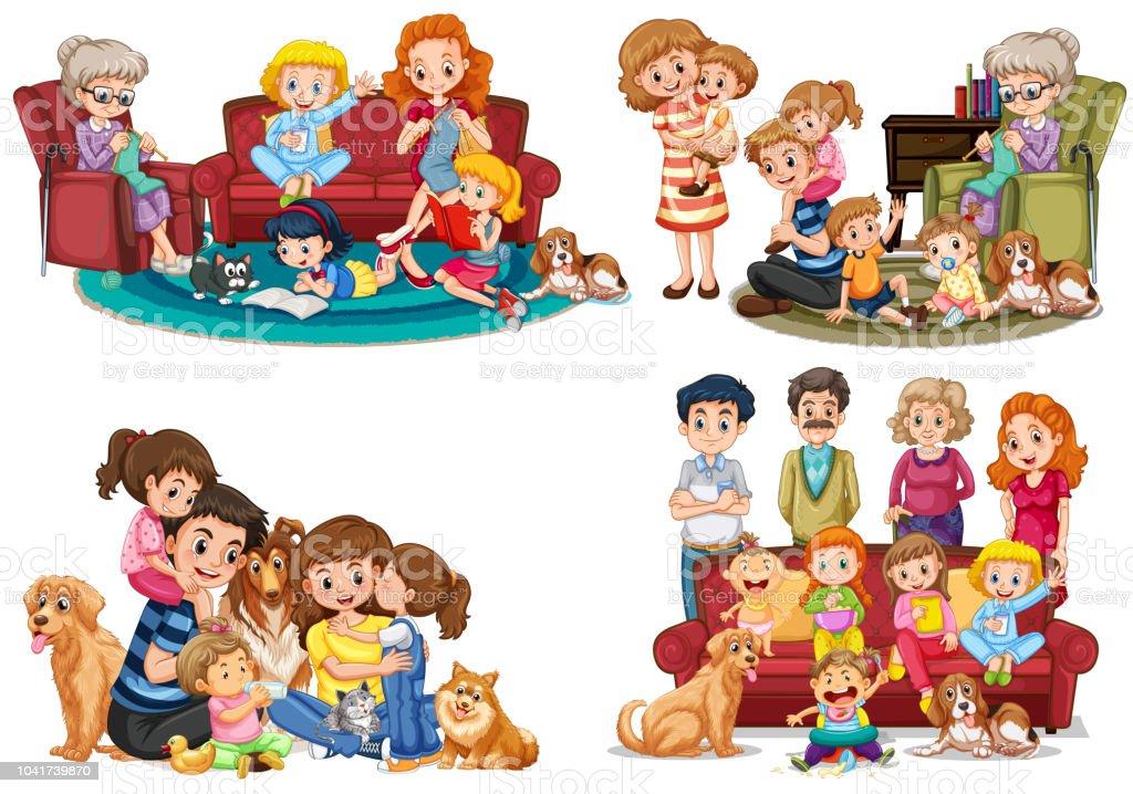 Un Ensemble De Membre De La Famille Vecteurs Libres De Droits Et Plus D Images Vectorielles De Adulte Istock
