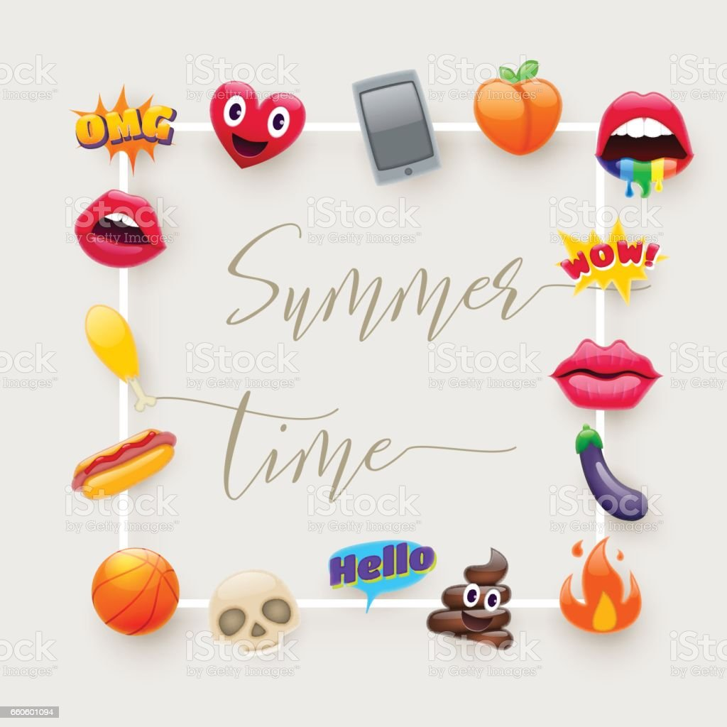 Set of Fantastic Smiley Emoticons Emoji Design Set royalty-free set of fantastic smiley emoticons emoji design set stock vector art & more images of cartoon