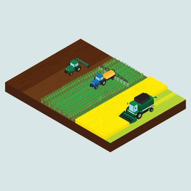 set of farmer icons - corn field stock illustrations, clip art, cartoons, & icons