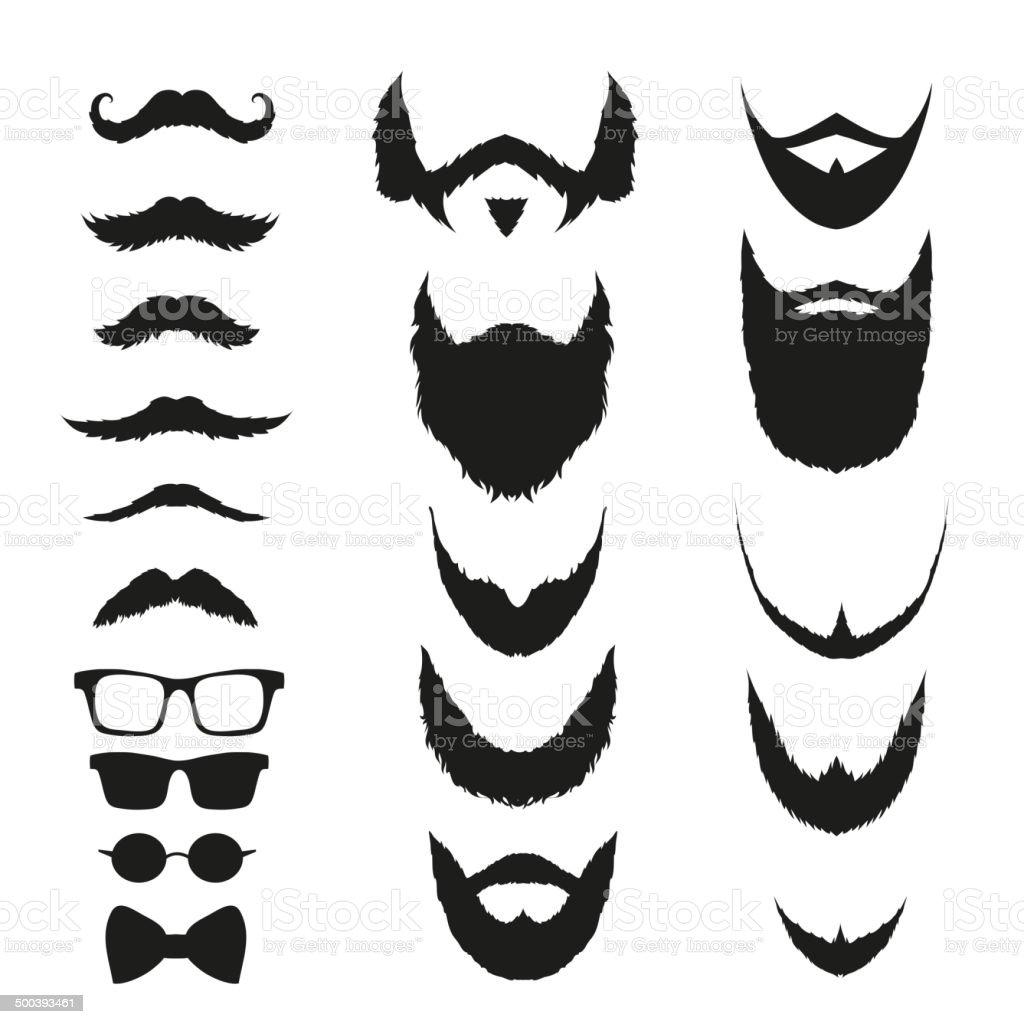 Conjunto de silueta de la moda hipster estilo, ilustración vectorial - ilustración de arte vectorial