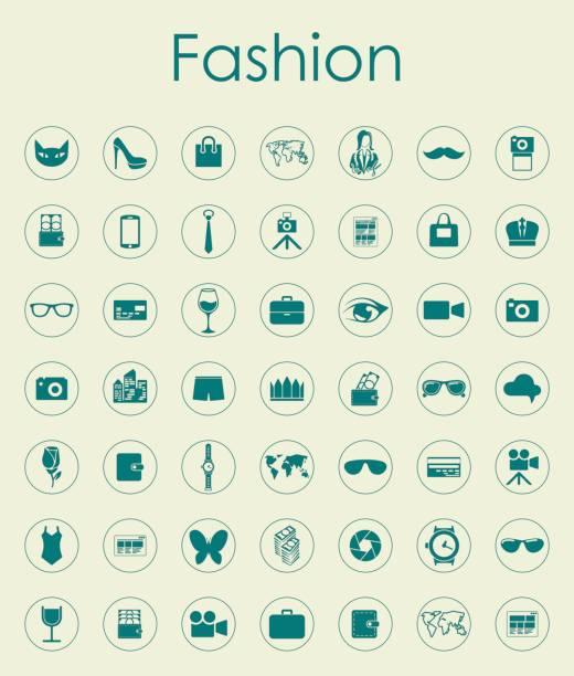 satz von mode einfache symbole - swag stock-grafiken, -clipart, -cartoons und -symbole