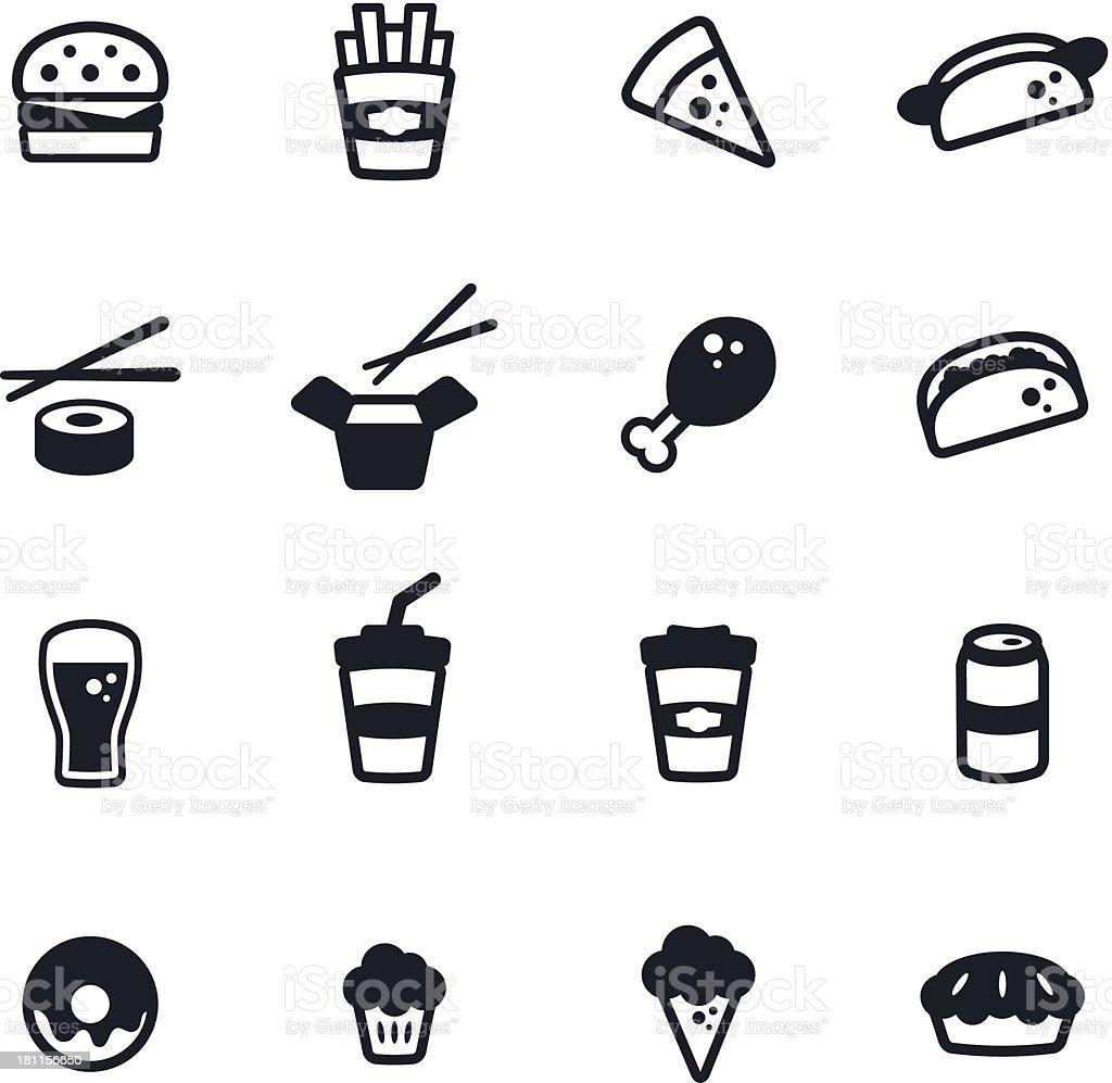 Set of fast food icons illustrationvectorkunst illustratie