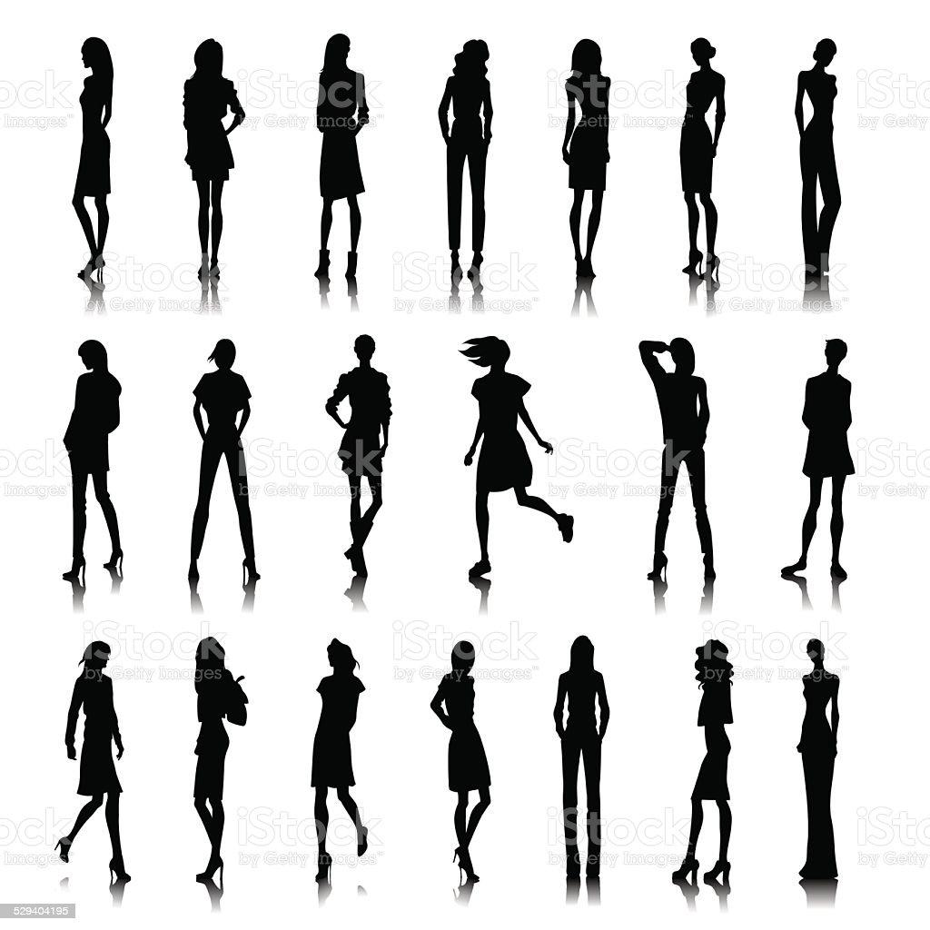 Conjunto de mujer ropa - ilustración de arte vectorial