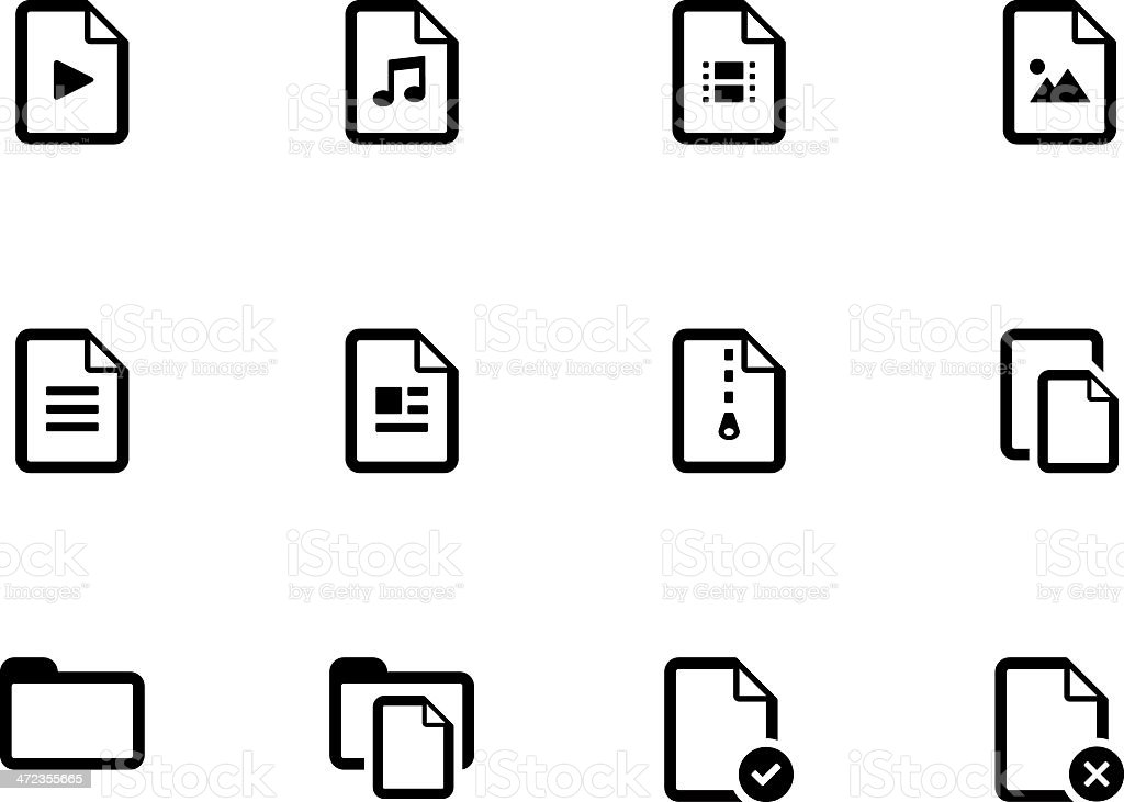 Set of Files icons royalty-free stock vector art