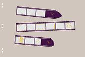 set of film stripes,