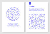 Set of Finance Related Icons Vector Pattern Design for Brochure,Annual Report,Book Cover.