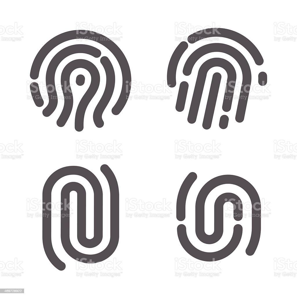一連の指紋 ベクターアートイラスト