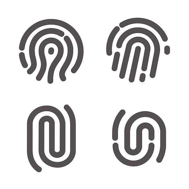 一連の指紋 - id盗難点のイラスト素材/クリップアート素材/マンガ素材/アイコン素材