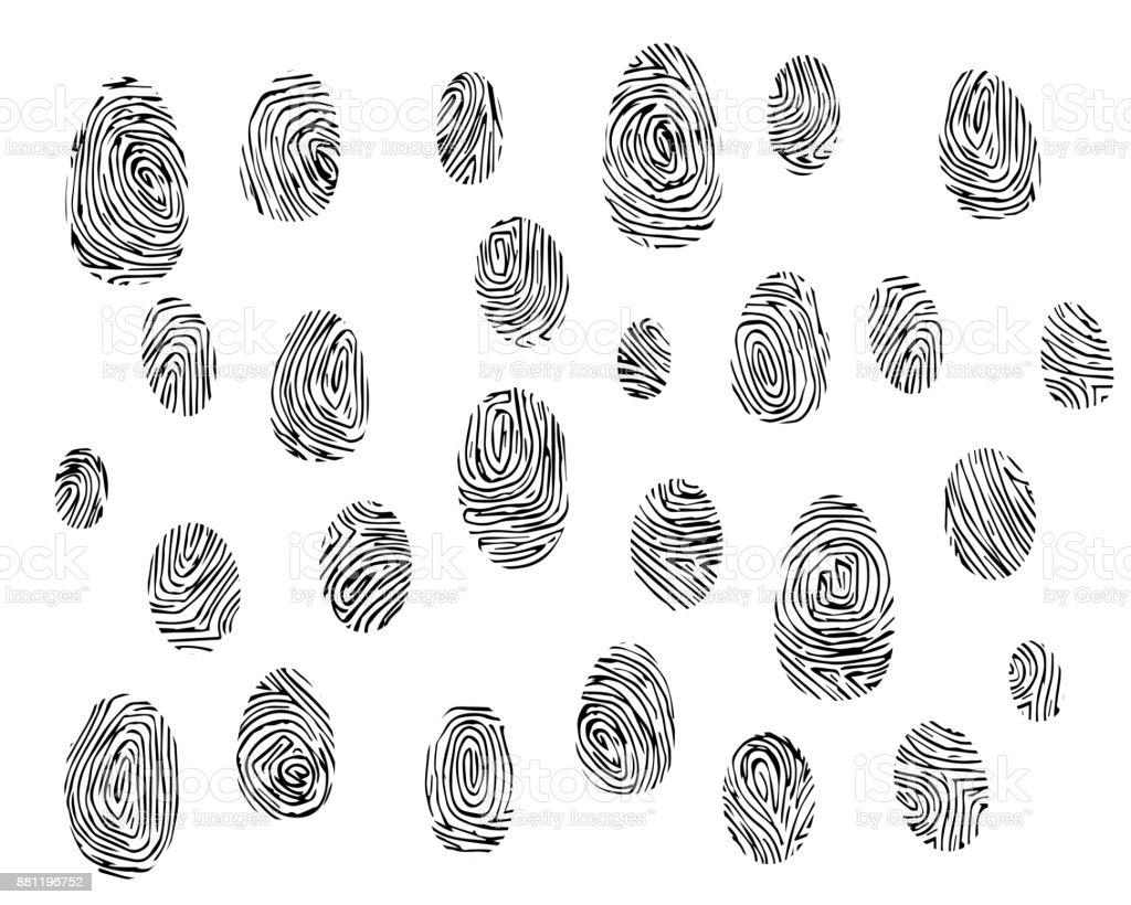Set Of Fingerprints Stock Illustration - Download Image Now - iStock