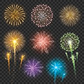 Set of Firework Illustrations
