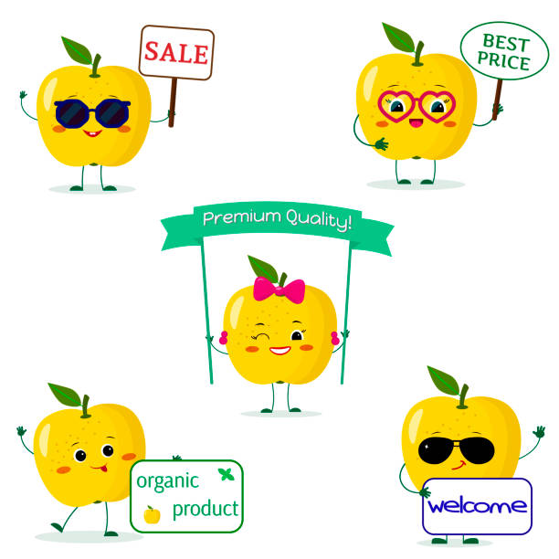 Royalty Free Cartoon Of A Apple Symbol Stock Clip Art Vector Images