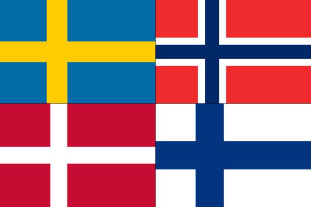 Satz der Flagge. – Vektorgrafik