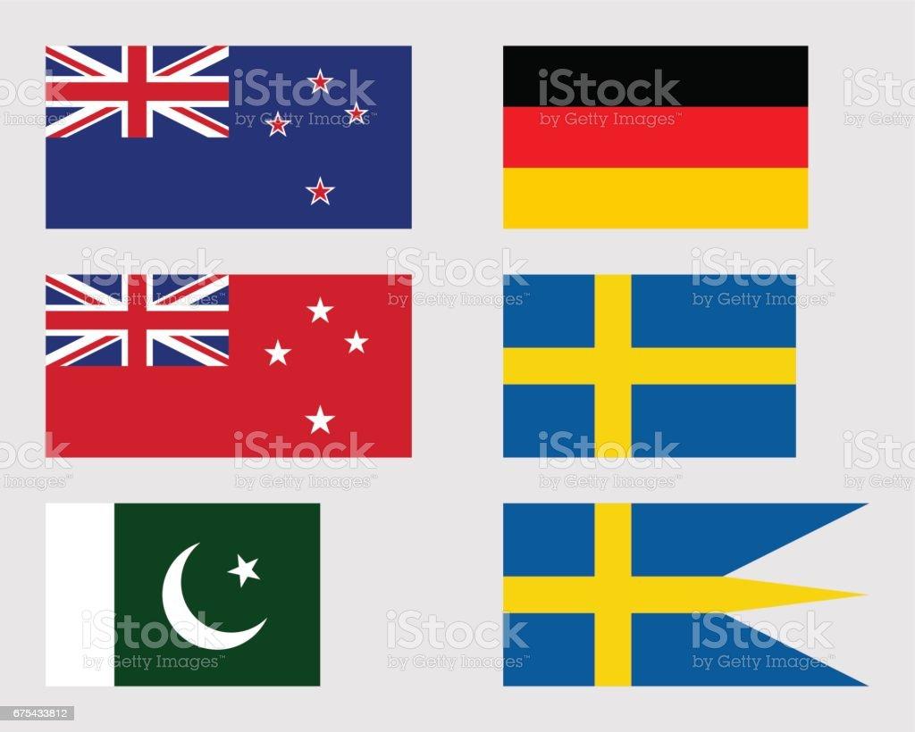 Set of flags 08. set of flags 08 – cliparts vectoriels et plus d'images de allemagne libre de droits
