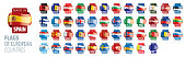 Set of flags of Europe. Vector illustration.