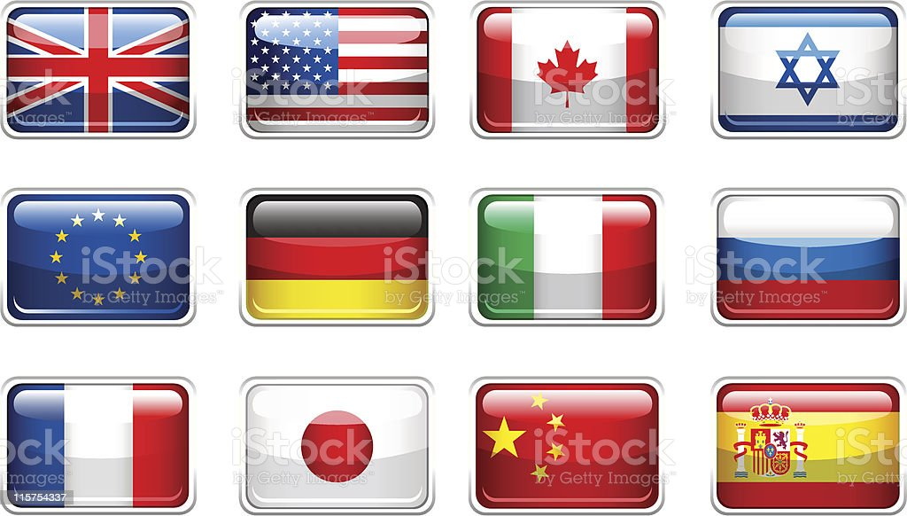 Set of flags. royalty-free set of flags stock vector art & more images of all european flags