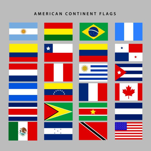 一連の旗 ベクターアートイラスト