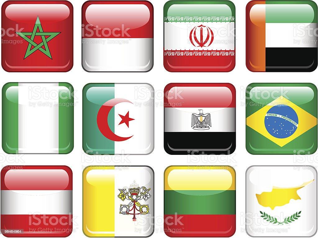 Set di bandiere set di bandiere - immagini vettoriali stock e altre immagini di algeria royalty-free