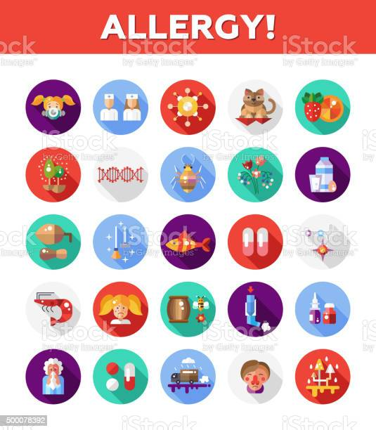 Set of flat design allergy and allergen icons infographics elements vector id500078392?b=1&k=6&m=500078392&s=612x612&h=iwes4ypfdyhjzidhzyfd1qkwg32rvowvxq64erzncwe=