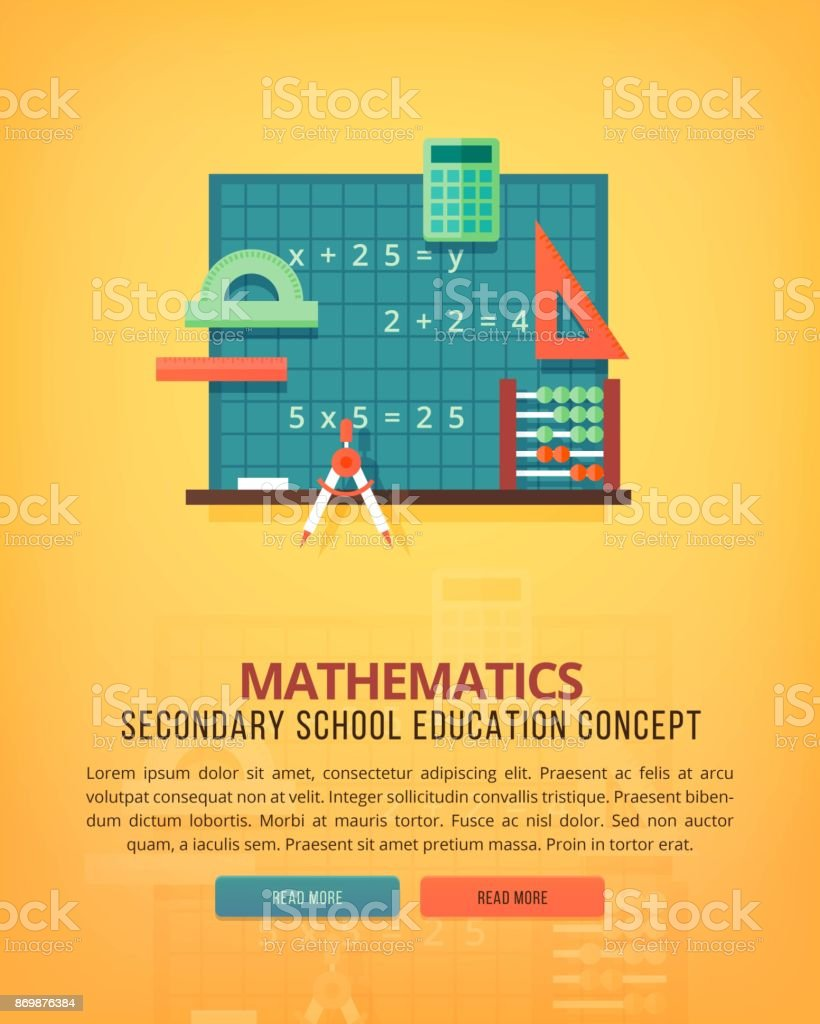 Set of flat design illustration concepts for mathematics. Education and knowledge ideas. Mathematic science. Concepts for web banner and promotional material. vector art illustration