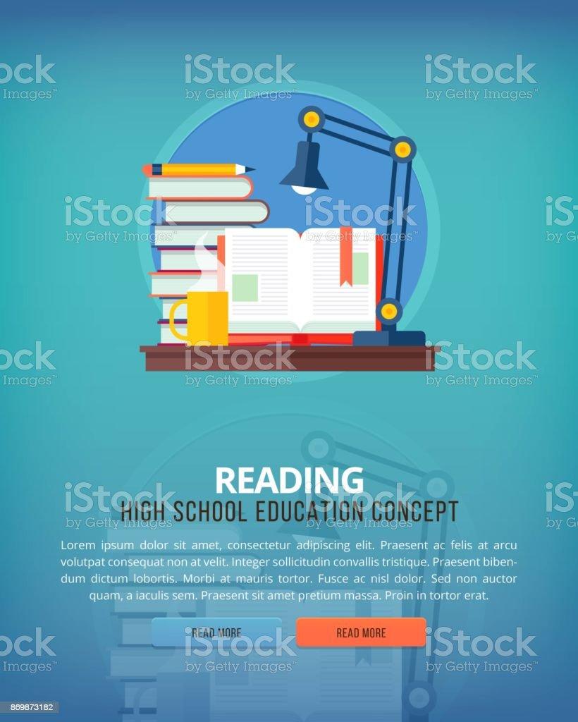 Conjunto de conceitos de ilustração design plano para leitura. Ideias de educação e conhecimento. Arte de eloquência e oratória. - ilustração de arte em vetor