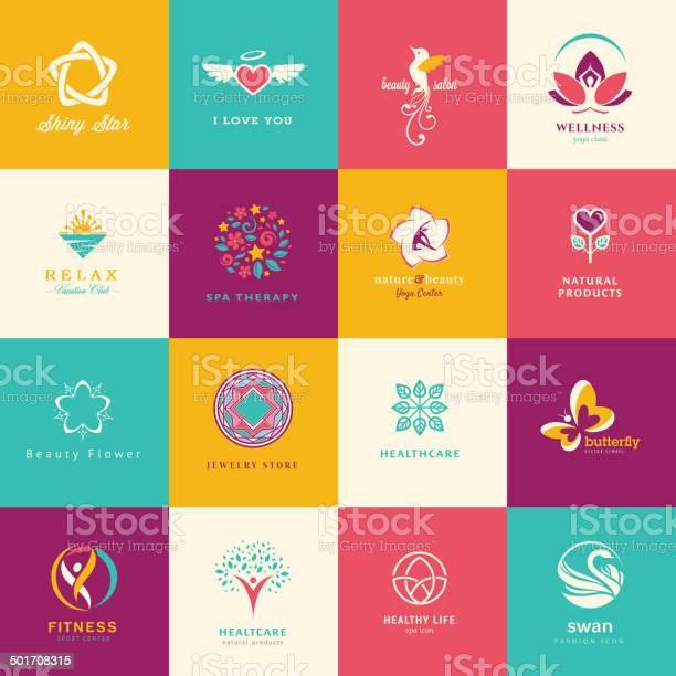 Set of flat icons for beauty healthcare wellness and fashion vector id501708315?b=1&k=6&m=501708315&s=612x612&h=audhayc0rbp9ya ljvgwlbloztbsymatdgwzla3buhw=