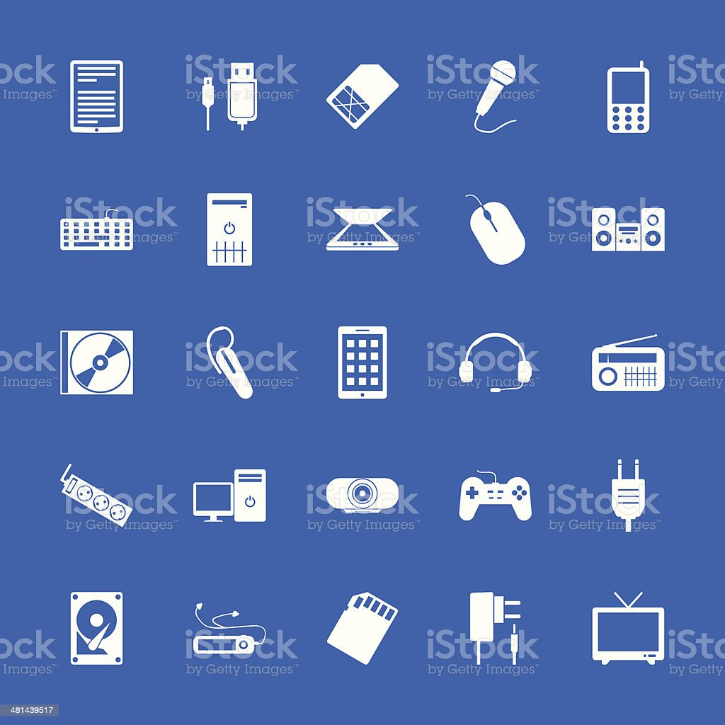 Set of flat icons. Technology and communications. royalty-free stock vector art