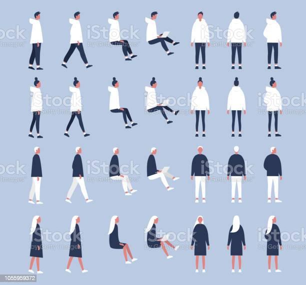 Set of flat vector characters in different poses young adults flat vector id1055959372?b=1&k=6&m=1055959372&s=612x612&h=pb aksfv2xa3esn6ob7ybbbypwa2 jqn6nak6yphqo4=