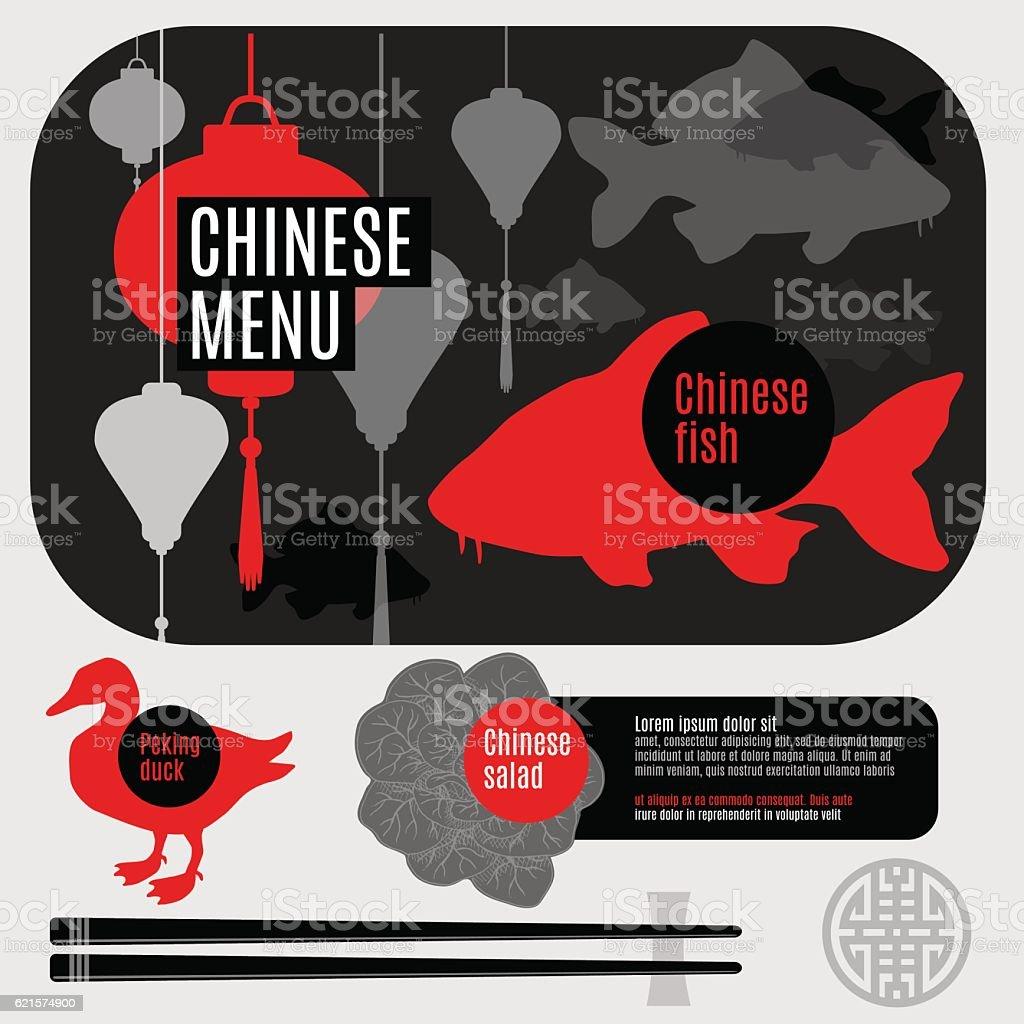 Set of flat vector elements for chinese restaurant set of flat vector elements for chinese restaurant – cliparts vectoriels et plus d'images de baguettes chinoises libre de droits