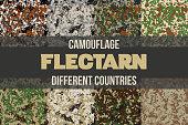 Set of Flectarn Camouflage seamless patterns