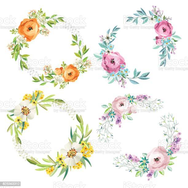 Set of floral wreathes vector id825363312?b=1&k=6&m=825363312&s=612x612&h=nj8nm8ilquwpqyh5h szfsclzay5dvff5nup71 fdbi=