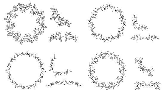 Set of  Floral wreaths
