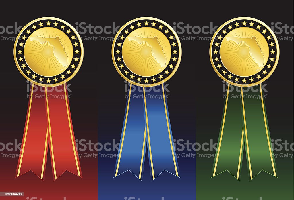 Set of Florida State Medals royalty-free stock vector art