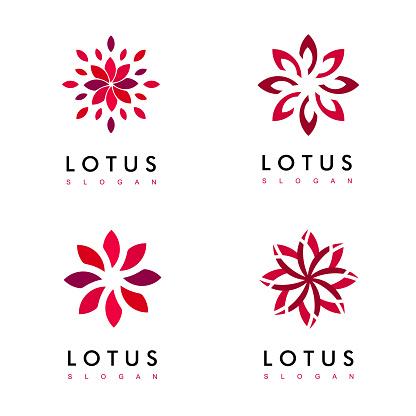 Set Of Flower Logo