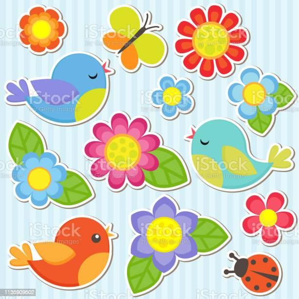 Set of flowers and birds vector id1135909502?b=1&k=6&m=1135909502&s=612x612&h=efg y63pb8fehke4zzduejpv kgiletbxxzrvlduvou=