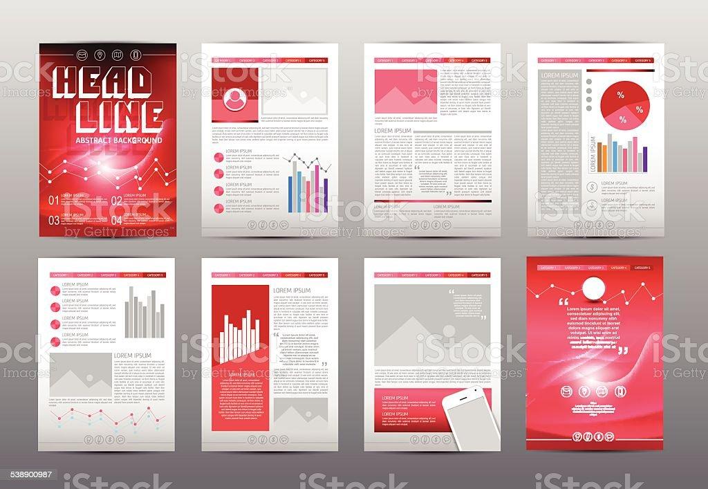 set of flyer brochure booklet design templates stock vector art
