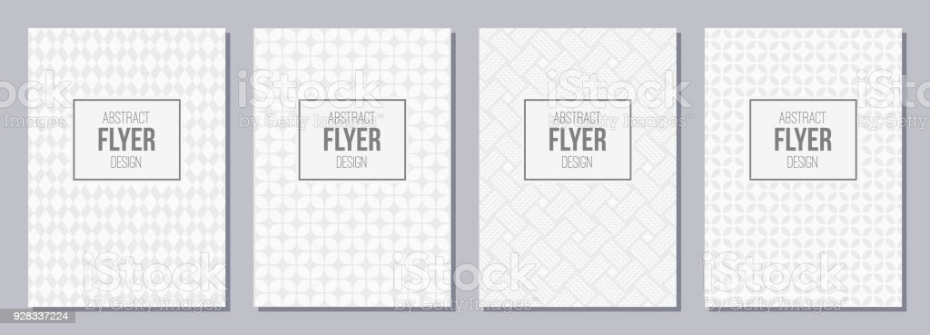 Set Of Flyer Posters Banners Placards Brochure Design Templates A6