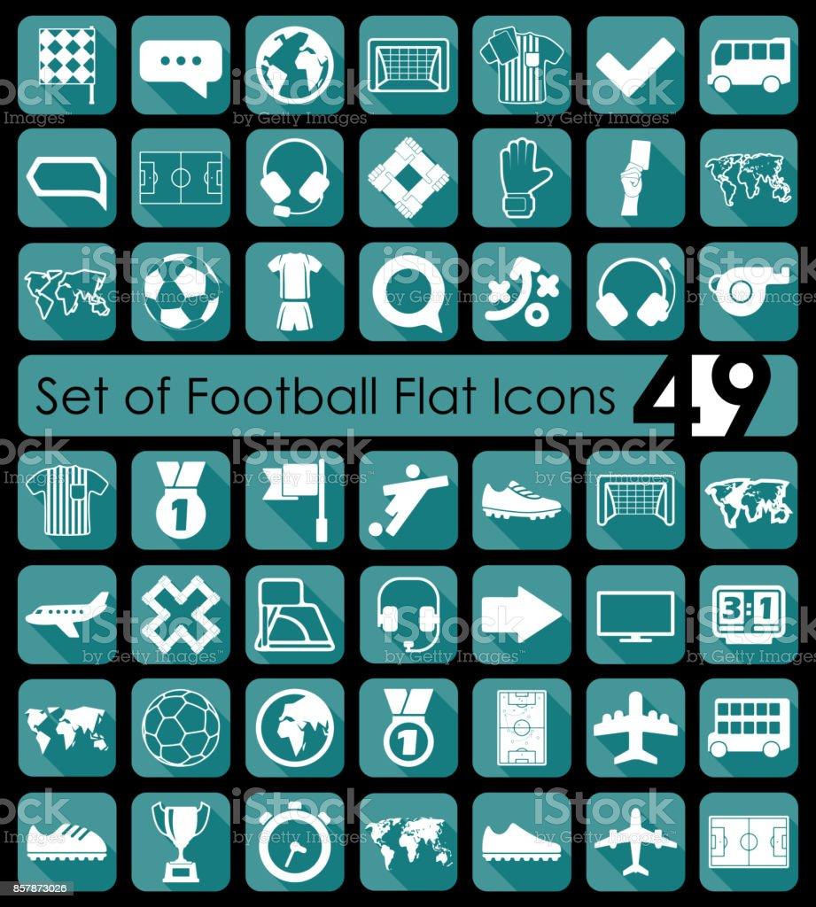 Set of football icons vector art illustration
