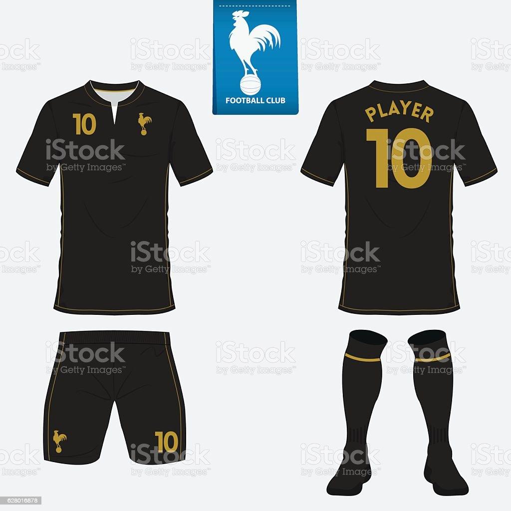 Set of football kit, soccer jersey. Football uniform template. Vector vector art illustration