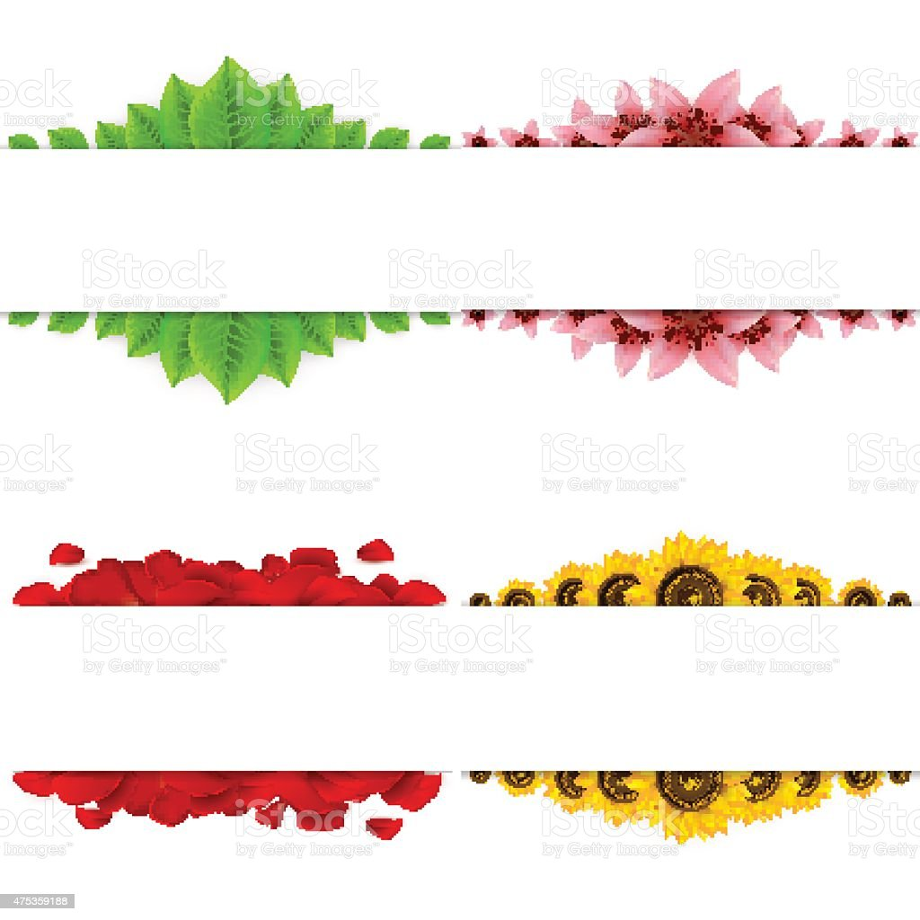 Set of four banners. vector art illustration