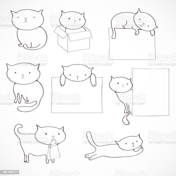 Set of four funny cats isolated on white vector id481294171?b=1&k=6&m=481294171&s=612x612&h=mkhab2t2b1faaojh5lyrovdtnkoocjh8k0g5ccxfrhs=