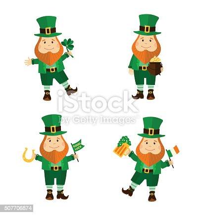 istock Duende irlandés y olla de oro de historieta 491430438 istock ...