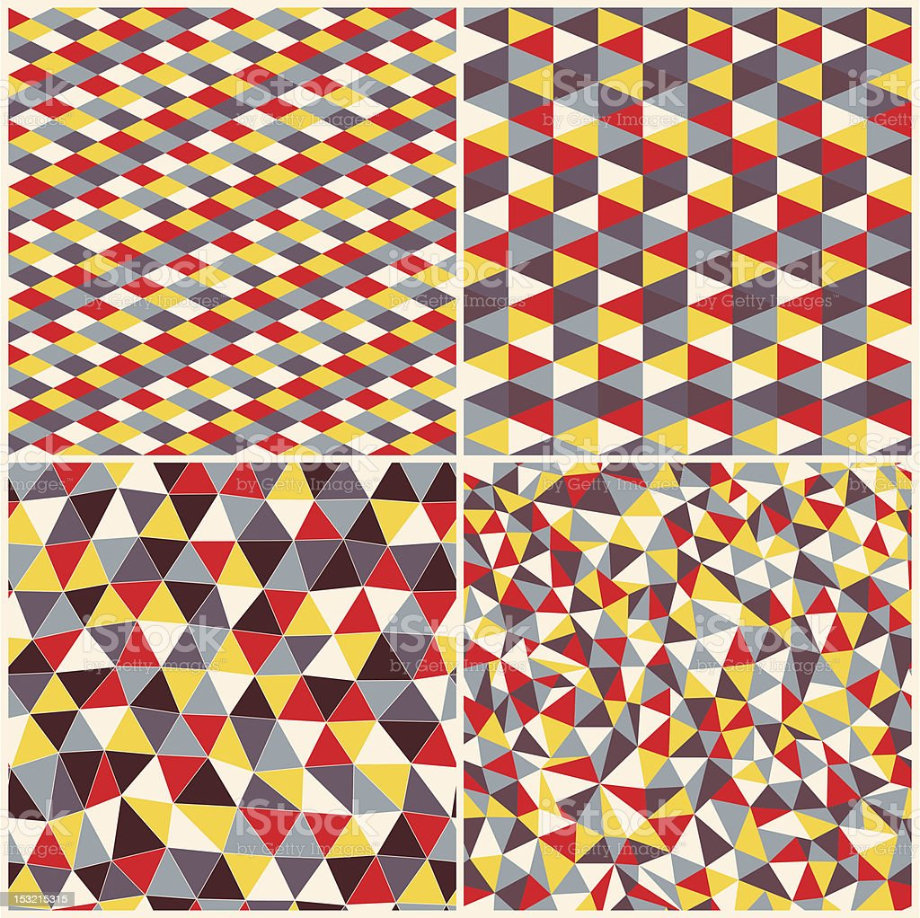 Set of four geometric seamless pattern royalty-free set of four geometric seamless pattern stock vector art & more images of 1980-1989