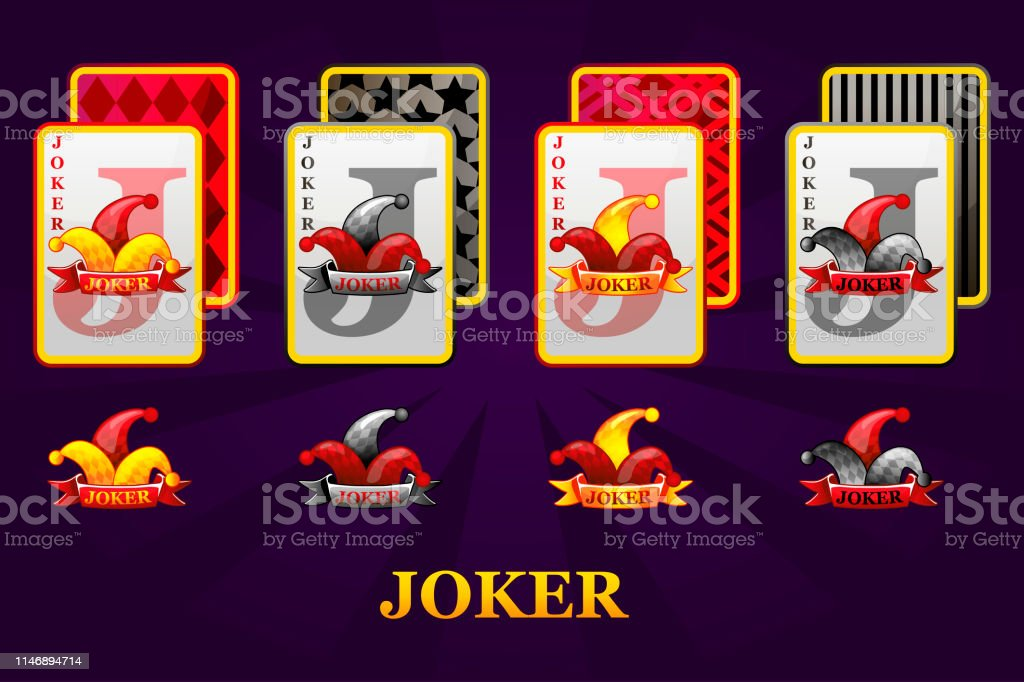 Set Of Four Jokers Playing Cards Suits For Poker And Casino