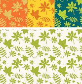 Set of four leaves pattern. Use it for repetition background and wallpaper!