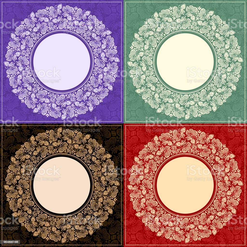 Set of four round frame royalty-free set of four round frame stock vector art & more images of abstract
