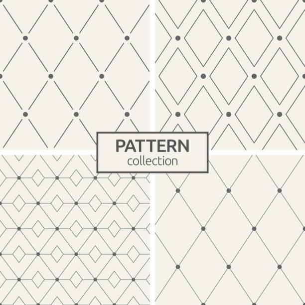 satz von vier seamless pattern. - gartendekorationen stock-grafiken, -clipart, -cartoons und -symbole