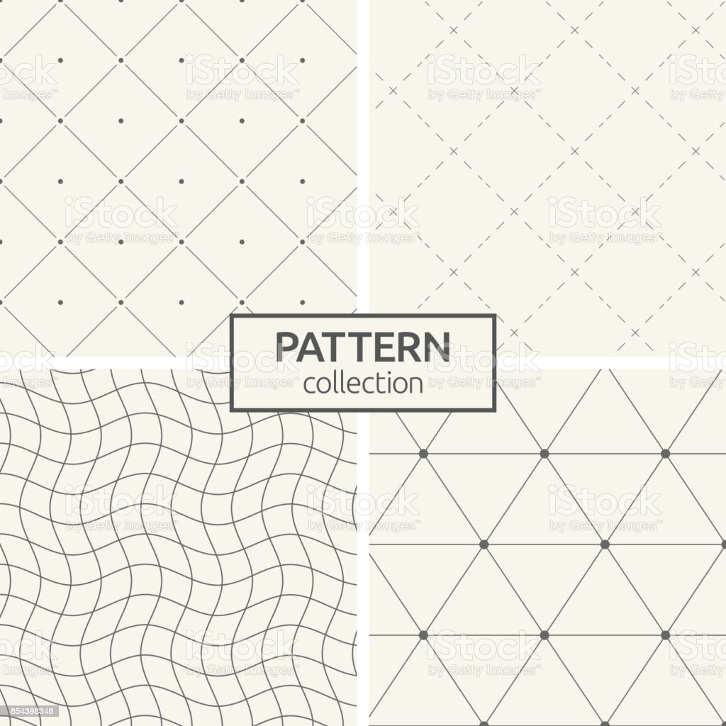 Set of four seamless patterns. royalty-free set of four seamless patterns stock illustration - download image now