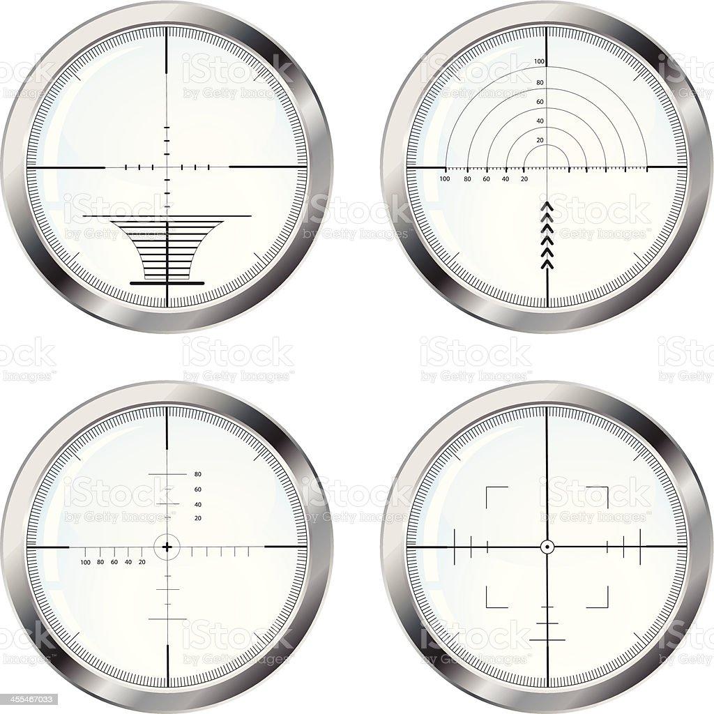 Set of four sniper crosshair royalty-free set of four sniper crosshair stock vector art & more images of ak-47