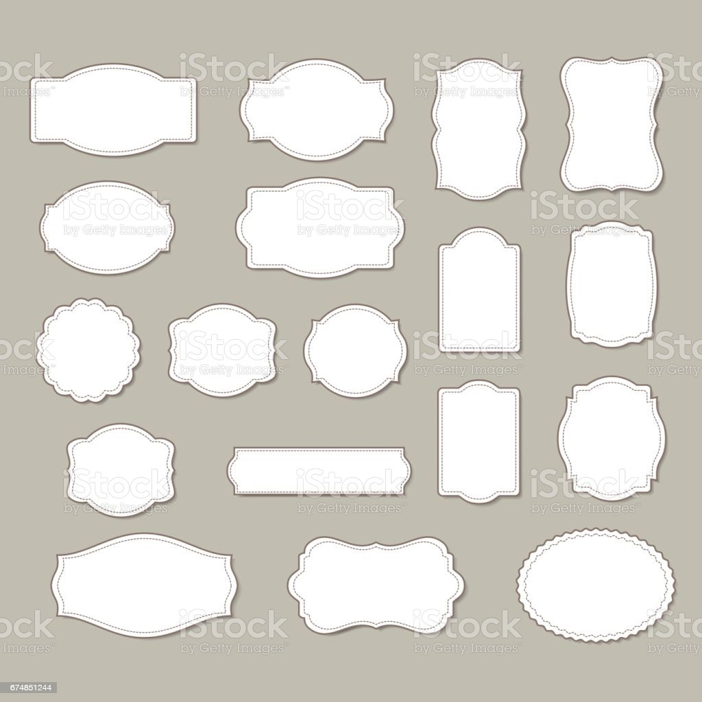 Set of frames (gift cards) isolated on background. vector art illustration